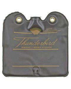 1964-1965 Ford Thunderbird Windshield Washer Bag, Black With Gold Letters, With Screw On Cap