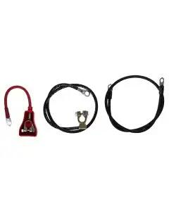 1965 Mustang Reproduction Battery Cable Set, Late 6-Cylinder Engines