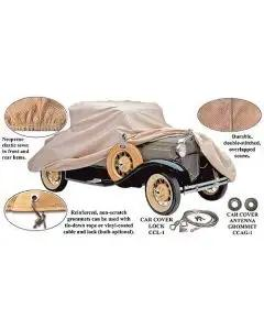 Model A Ford Car Cover - Poly-Cotton - Cabriolet With A Rear Mount