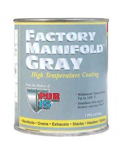 POR-Brand Hi-Temp Paint - Factory Manifold Gray - Up To 1400§ - 1 Pint