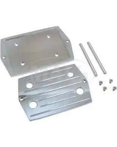 Ford Aluminum Polished Ball Milled Optima Battery Tray, 1955-1979