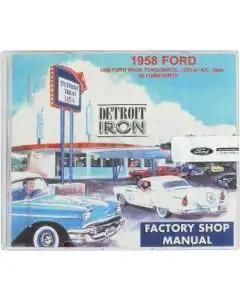 Shop Manual & Parts Manual On CD-Rom, Fairlane, Galaxie, Ranchero, 1958