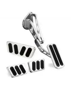 1964-1970 Mustang Lokar Billet Aluminum Pedal Set with Brushed/Polished Finish