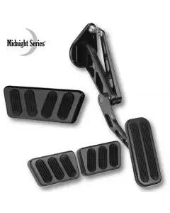 1964-1970 Mustang Lokar Midnight Series Billet Aluminum Pedal Set with Black Finish