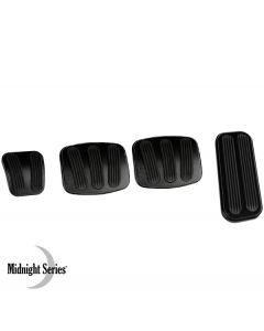 Lokar Billet Aluminum Pedal Pads, Midnight Series, Bronco, 1966-1977