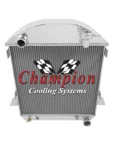 Champion Three Row Aluminum Radiator For T-Bucket With Chevy V8 Configuration, 1917-1927