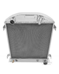 Champion Three Row Aluminum Radiator For 1932 With Chevy Configuration