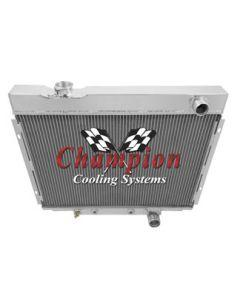 Champion Three Row Aluminum Radiator, Galaxie, 1964-1966