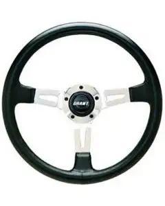 Camaro Steering Wheel, Three-Spoke, Collector's Edition, Black, Grant, 1970-1988
