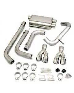 "Camaro Exhaust System, Power-Pulse, With Pro-Series 3-1/2"" Tips, LT1 Dual Cats, CORSA, 1995-1997"