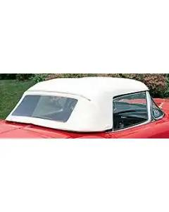 1956-1958 Corvette Convertible Top White Sewn