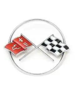 1962 Corvette Crossed-Flags Emblem Front