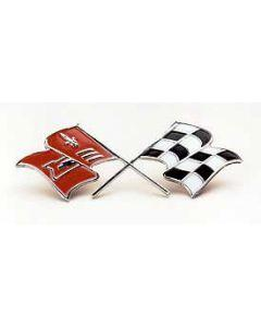 1958-1960 Corvette Side Fender Crossed-Flags Emblem