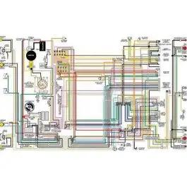 El Camino Color Laminated Wiring Diagram, 1964-1975 | 1965 Chevy El Camino Wiring Diagram |  | Ecklers