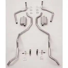 1960-1964 Chevy Dual Exhaust System, Aluminized 2 1/2