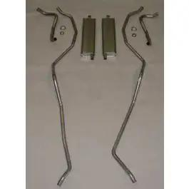 Full Size Chevy Dual Exhaust System, Stainless Steel, SmallBlock, 1959