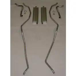 Full Size Chevy Dual Aluminized Exhaust System, Small Block, 1959