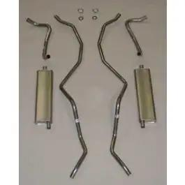 1960-1964 Chevy Dual Exhaust System, Aluminized, Small Block