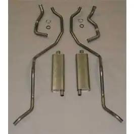 Full Size Chevy Aluminized Dual Exhaust System, High Performance, 409ci, 1962-1964