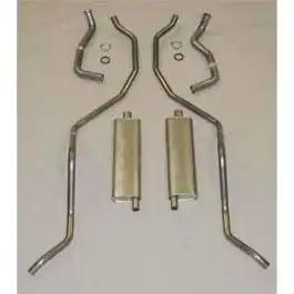 Full Size Chevy Dual Exhaust System, Aluminized, 409ci HighPerformance, Wagon, 1962-1964