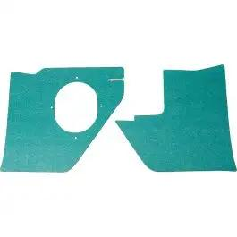 Full Size Chevy Kick Panels, For Cars With Air Conditioning, Light Aqua, 1963
