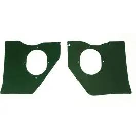 Full Size Chevy Kick Panels, For Cars Without Air Conditioning, Dark Green, 1961-1962