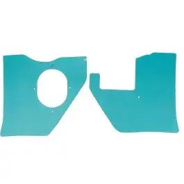 Full Size Chevy Kick Panels, For Cars With Air Conditioning, Aqua, 1961-1962