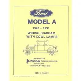 model a ford electrical wiring diagram - for cars with cowllamps  ecklers
