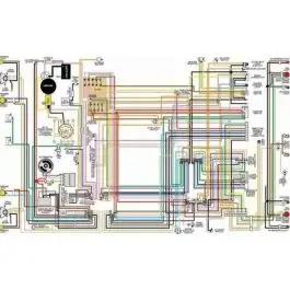 Ford Galaxie Color Laminated Wiring Diagram, 1962-1971   1965 Ford Galaxie 500 Wiring Diagram      MAC's Auto Parts
