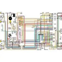 Camaro Color Laminated Wiring Diagram, 1967-1981Ricks Camaro