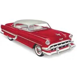 Chevy Rear Glass, Clear, 2-Door Hardtop Sport Coupe, 1953-1954