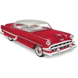 Chevy Rear Glass, BelAir Sport Coupe, Tinted, 1953-1954