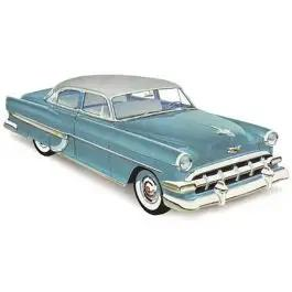 Chevy Front Door Glass, Clear, 4-Door Sedan & Delivery, 1953-1954