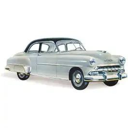Chevy Vent Glass, Clear, Business And Sport Coupe, Styleline 2 & 4-Door Sedan And Station Wagon, 1949-1952
