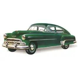 Chevy Vent Glass, Tinted, Fleetline, 2 & 4-Door Sedan, 1949-1952