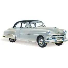 Chevy Door Glass, Clear, Styleline 2-Door Sedan, 1949-1952