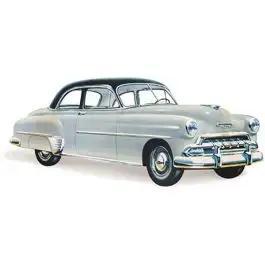 Chevy Door Glass, Tinted, Styleline 2-Door Sedan, 1949-1952