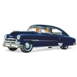 Chevy Front Door Glass, Clear, Fleetline 4-Door Sedan, 1949-1951
