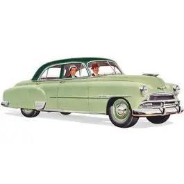 Chevy Front Door Glass, Tinted, Styleline 4-Door Sedan, 1949-1952