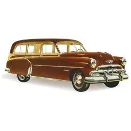 Chevy Front Door Glass, Tinted, Station Wagon Except '49 Woody, 1949-1952