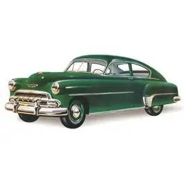 Chevy Quarter Glass, Tinted, Fleetline 2-Door Sedan, 1949-1952