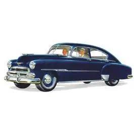 Chevy Rear Door Glass, Clear, Fleetline 4-Door Sedan, 1949-1951