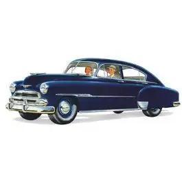 Chevy Rear Door Glass, Tinted, Fleetline 4-Door Sedan, 1949-1951
