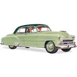 Chevy Rear Door Glass, Tinted, Styleline 4-Door Sedan, 1949-1952