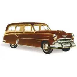 Chevy Rear Door Glass, Tinted, Station Wagon,Except '49 Woody, 1949-1952
