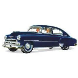Chevy Open Vent Glass, Tinted, Fleetline 210 4-Door Sedan, 1949-1951