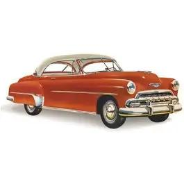 Chevy Rear Glass, Clear, Bel Air 2-Door Hardtop, Right, 1950-1952