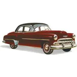 Chevy Rear Glass, Tinted, Business And Sport Coupe, 1949-1952