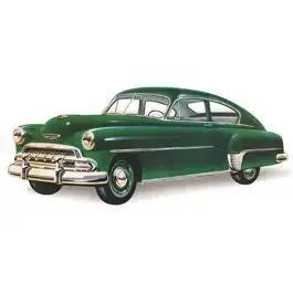 Chevy Rear Glass, Clear, Fleetline 2 & 4-Door Sedan, 1949-1952