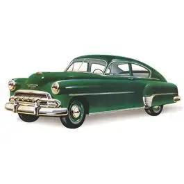 Chevy Rear Glass, Tinted, Fleetline 2 & 4-Door Sedan, 1949-1952